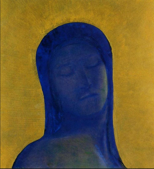 """Closed Eyes"" by Odilon Redon"