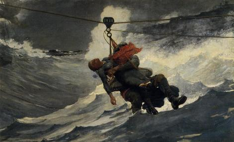 """The Life Line"" by Winslow Homer"