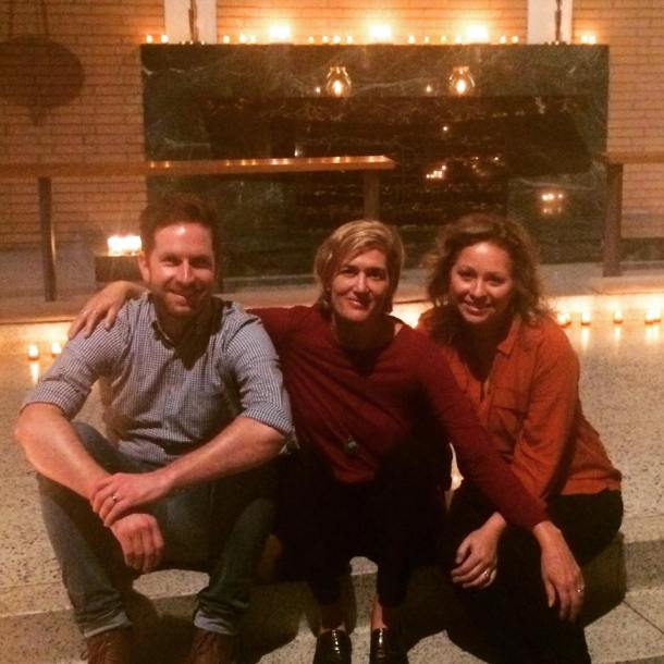 With Blake Flattley & Kristin Schweain before Taize worship at The Gathering