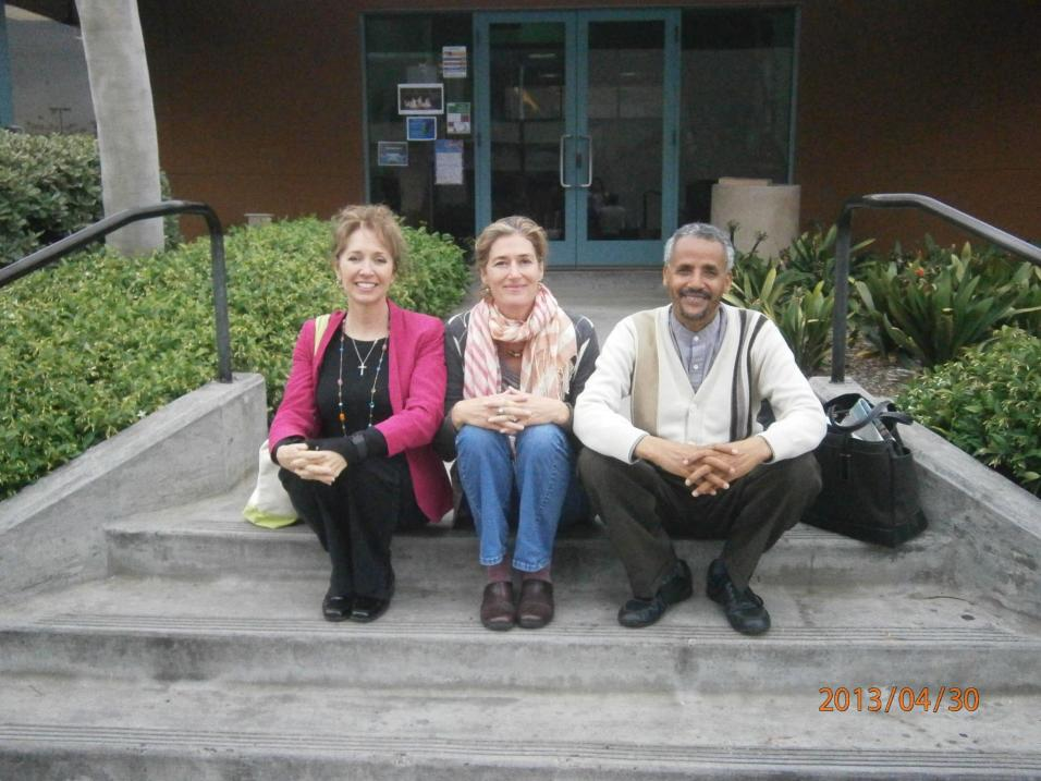 With Leann and Mussie on the last day of our MA program, Concordia Irvine.
